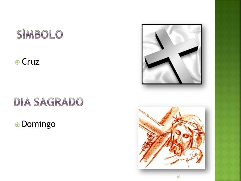 Símbolo Cruz Domingo Dia Sagrado