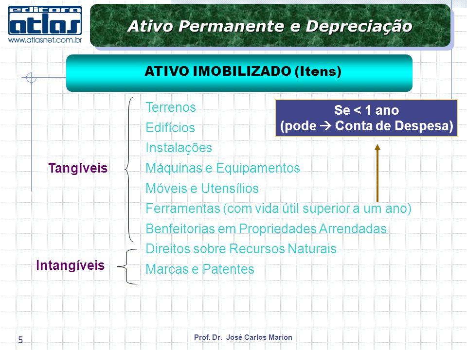 Ativo Permanente e Depreciação (pode  Conta de Despesa)