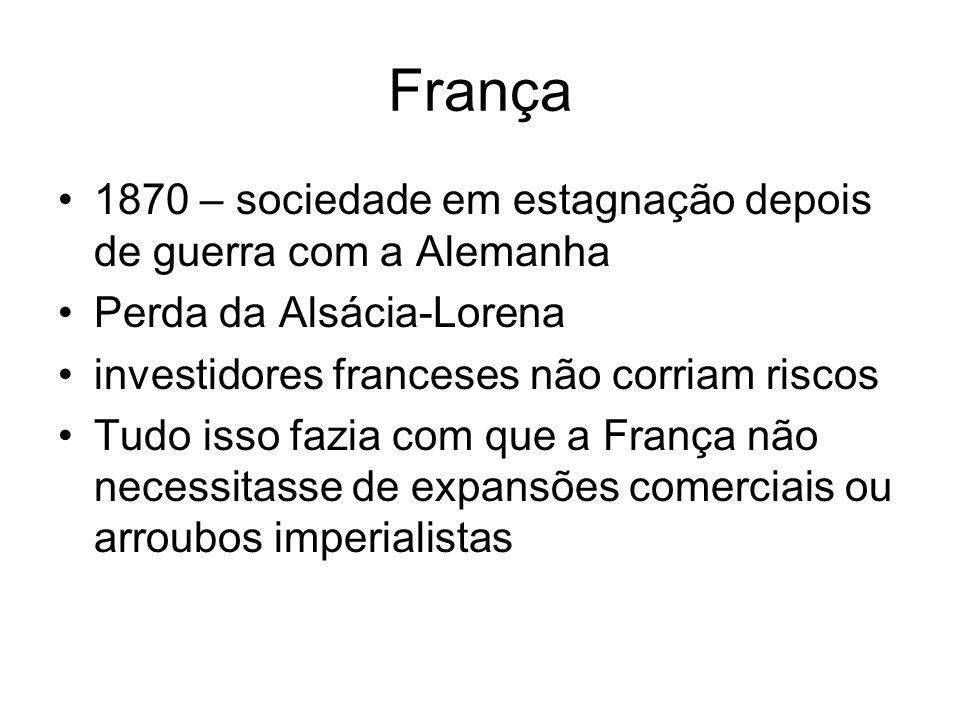 França 1870 – sociedade em estagnação depois de guerra com a Alemanha