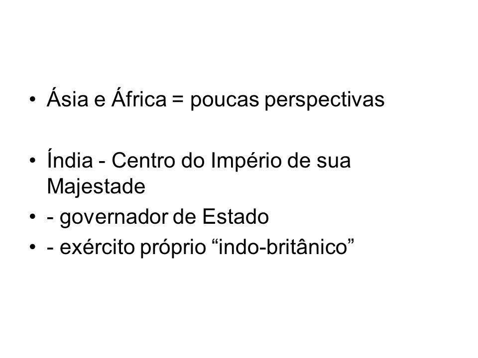 Ásia e África = poucas perspectivas