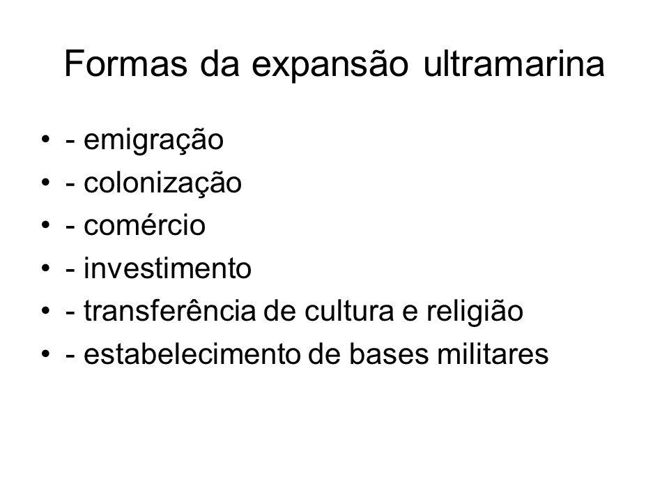 Formas da expansão ultramarina
