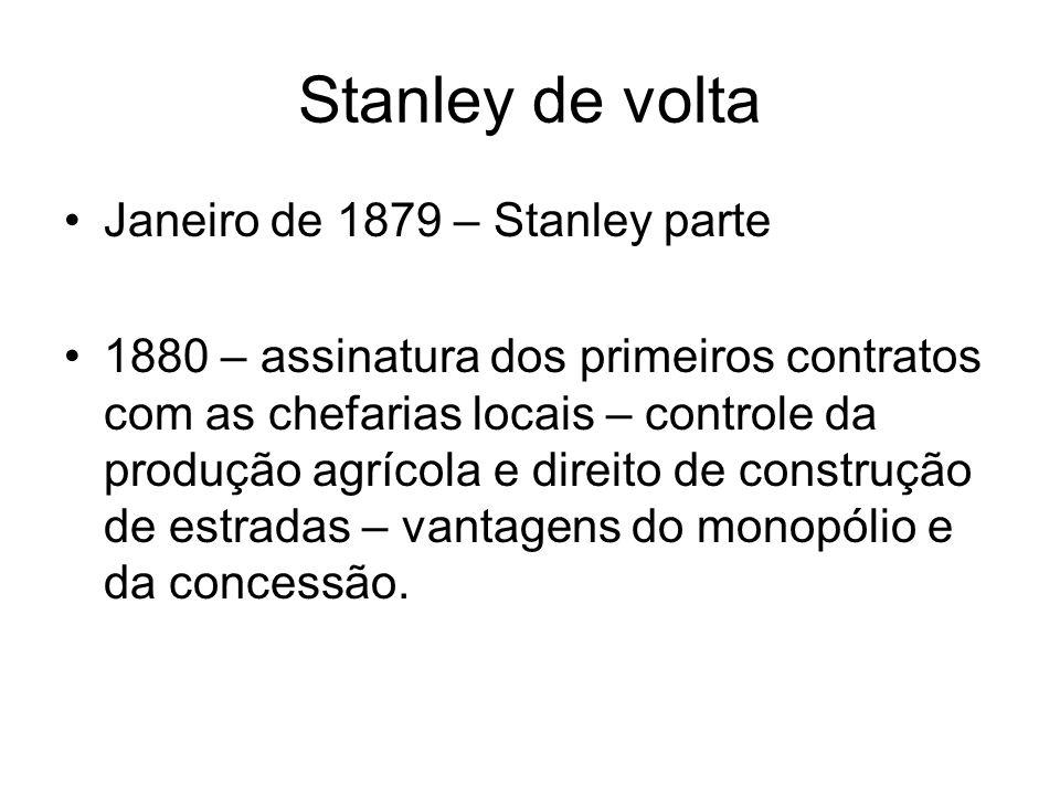 Stanley de volta Janeiro de 1879 – Stanley parte