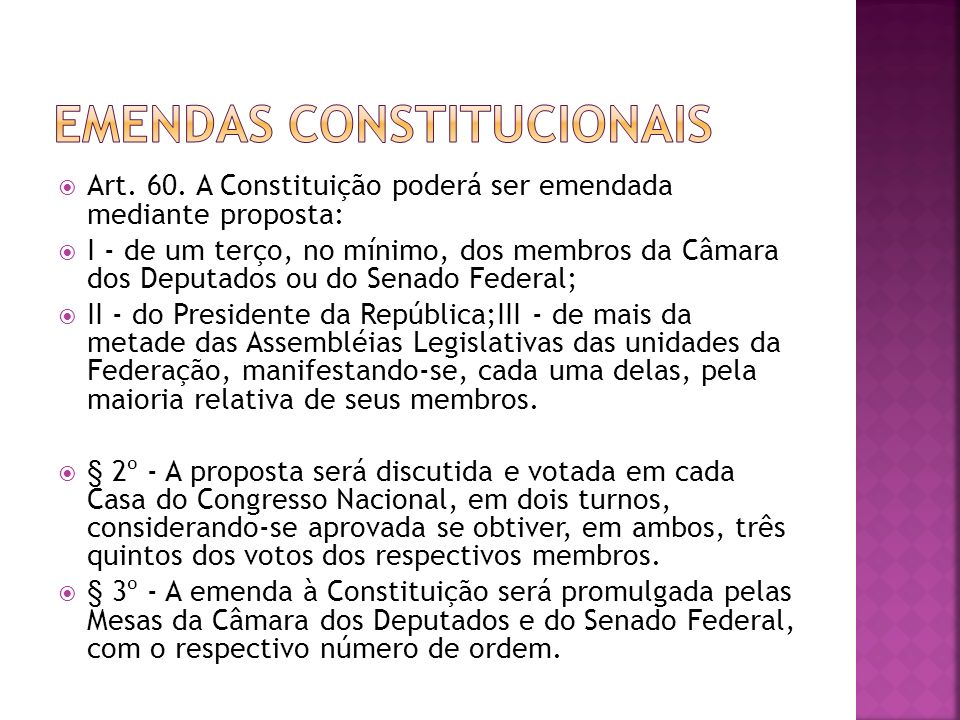 Emendas Constitucionais
