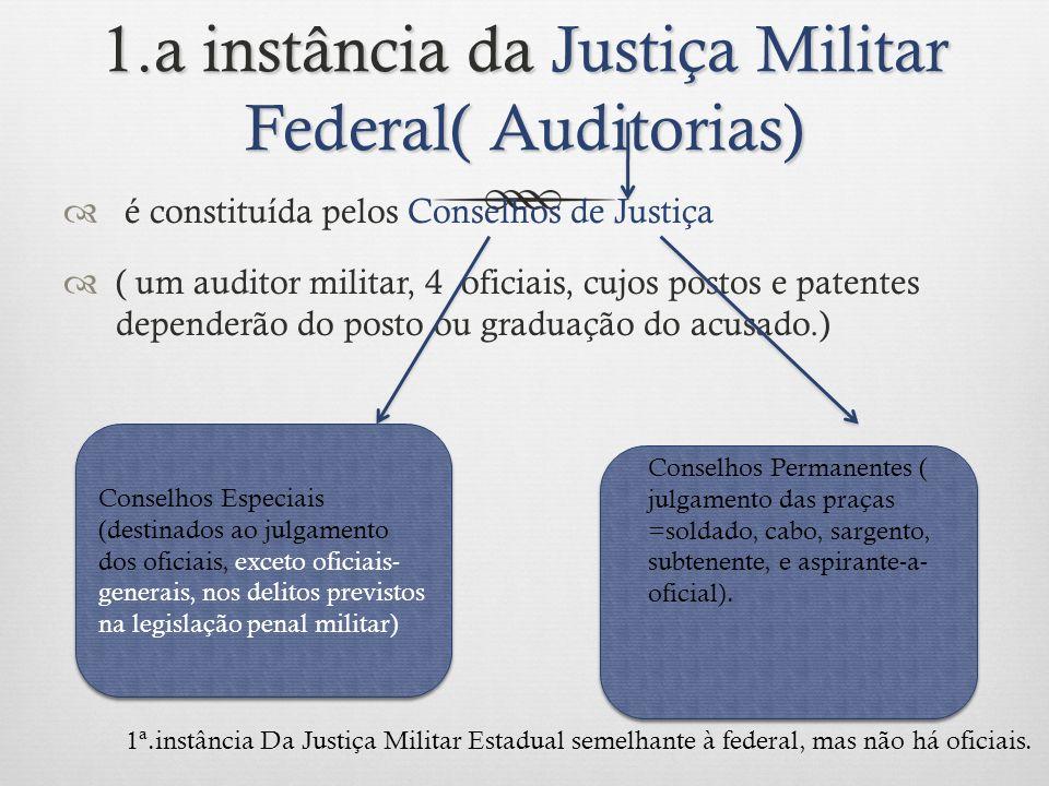 1.a instância da Justiça Militar Federal( Auditorias)