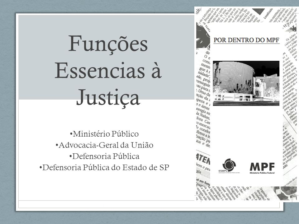 Funções Essencias à Justiça