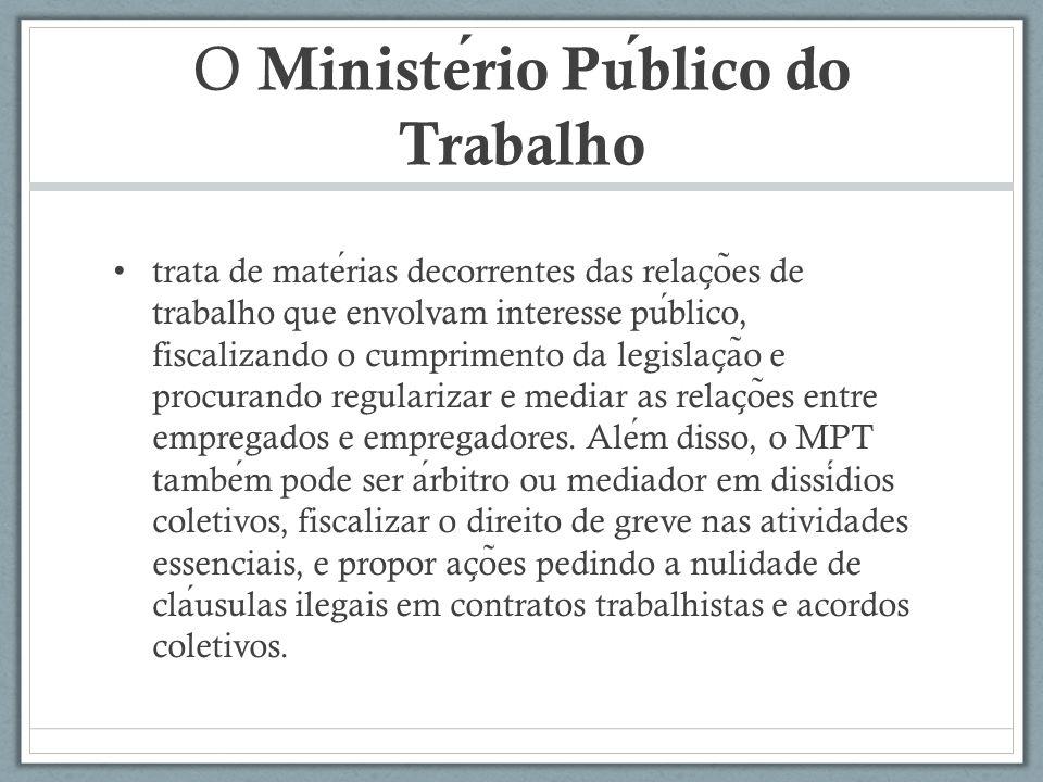 O Ministério Público do Trabalho