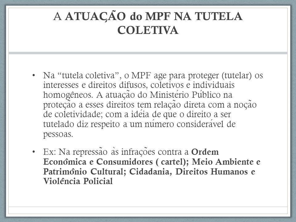 A ATUAÇÃO do MPF NA TUTELA COLETIVA