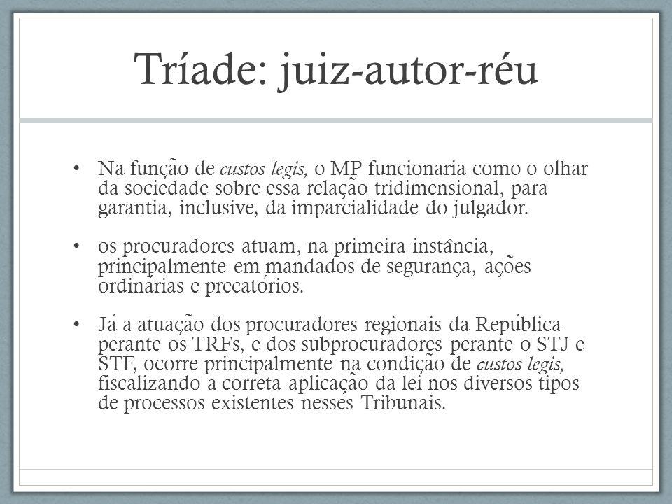 Tríade: juiz-autor-réu