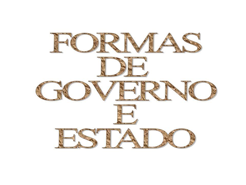 FORMAS DE GOVERNO E ESTADO