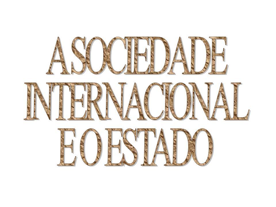 A SOCIEDADE INTERNACIONAL E O ESTADO