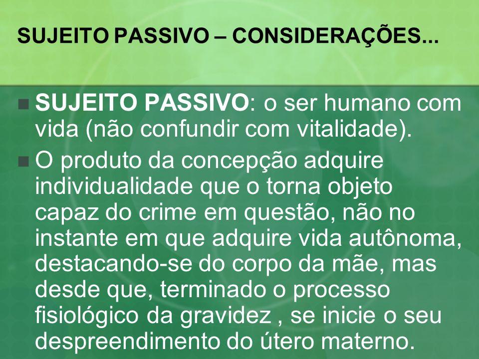 SUJEITO PASSIVO – CONSIDERAÇÕES...