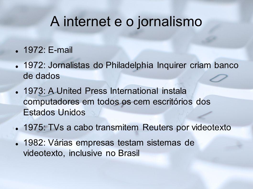 A internet e o jornalismo