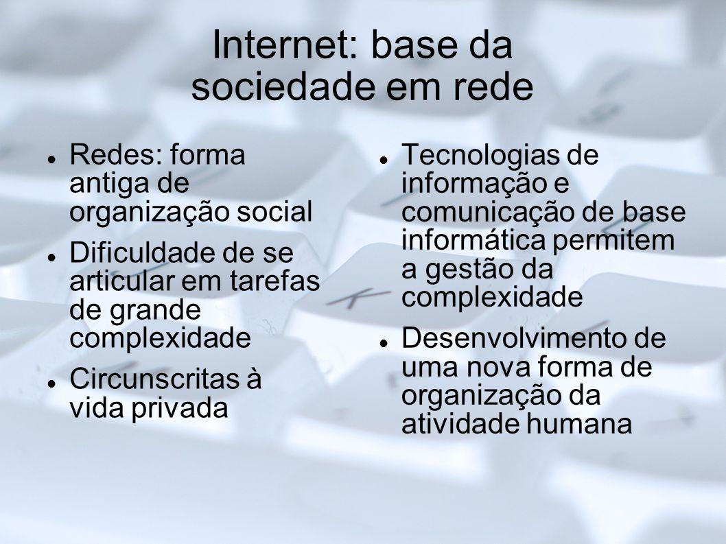 Internet: base da sociedade em rede