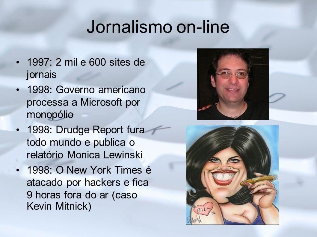 Jornalismo on-line 1997: 2 mil e 600 sites de jornais