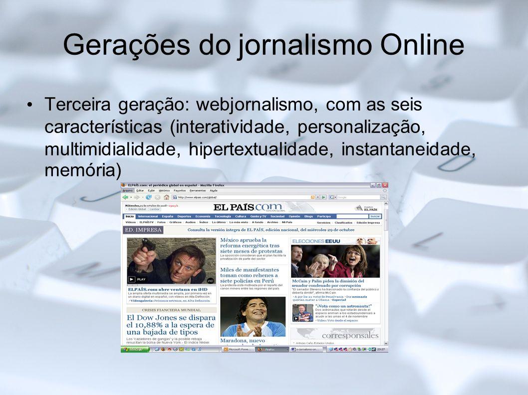 Gerações do jornalismo Online