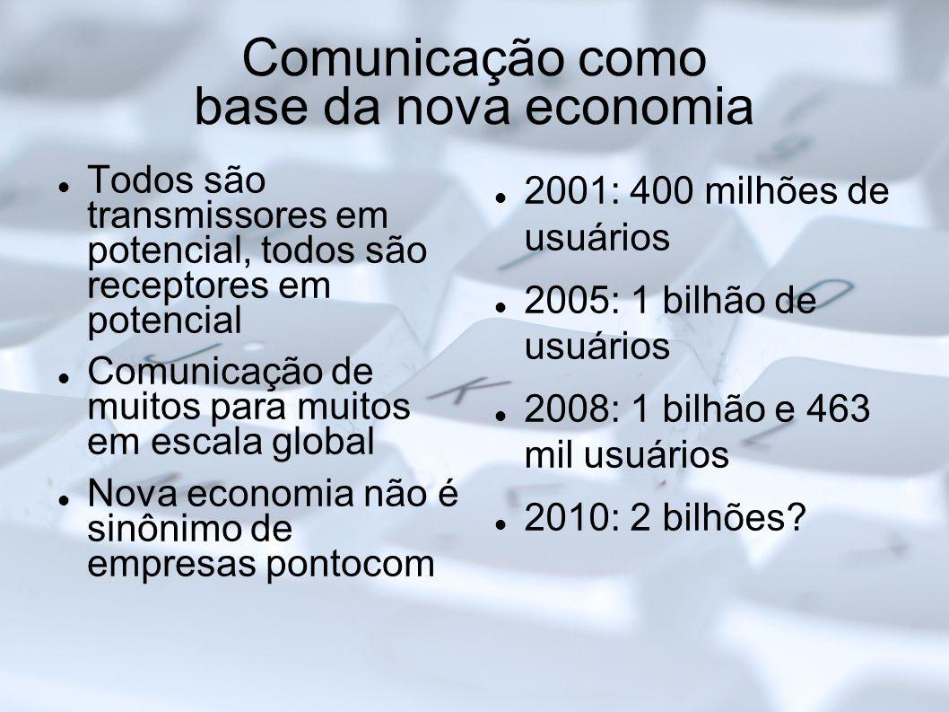 Comunicação como base da nova economia