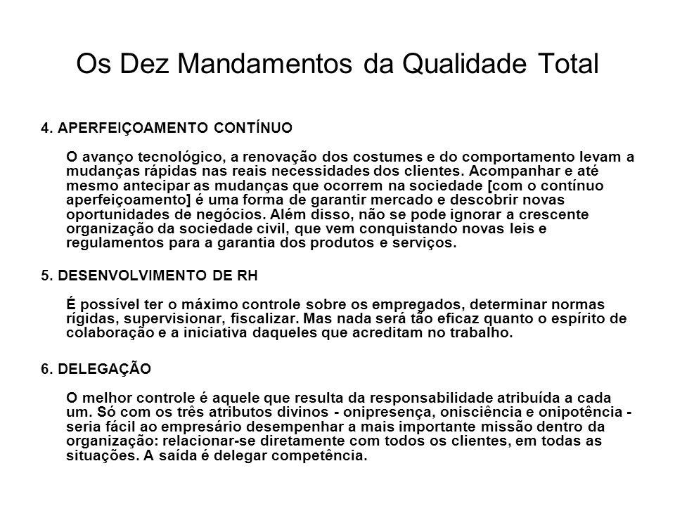 Os Dez Mandamentos da Qualidade Total