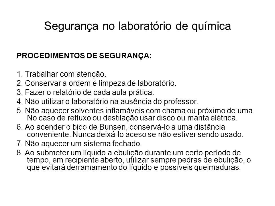 Segurança no laboratório de química