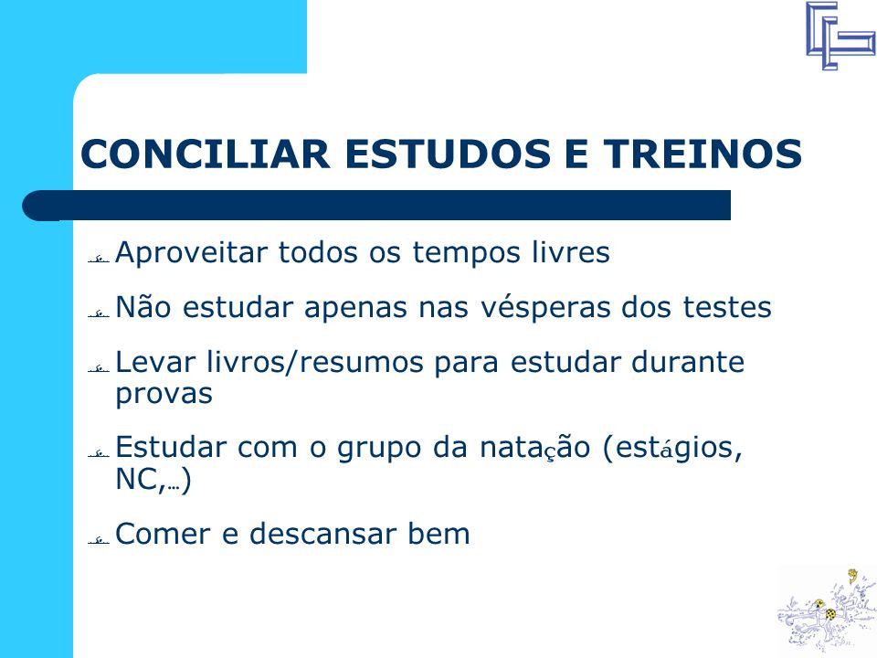 CONCILIAR ESTUDOS E TREINOS