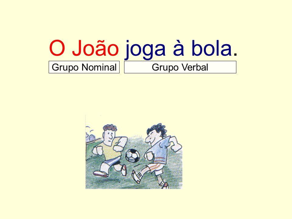 O João joga à bola. Grupo Nominal Grupo Verbal