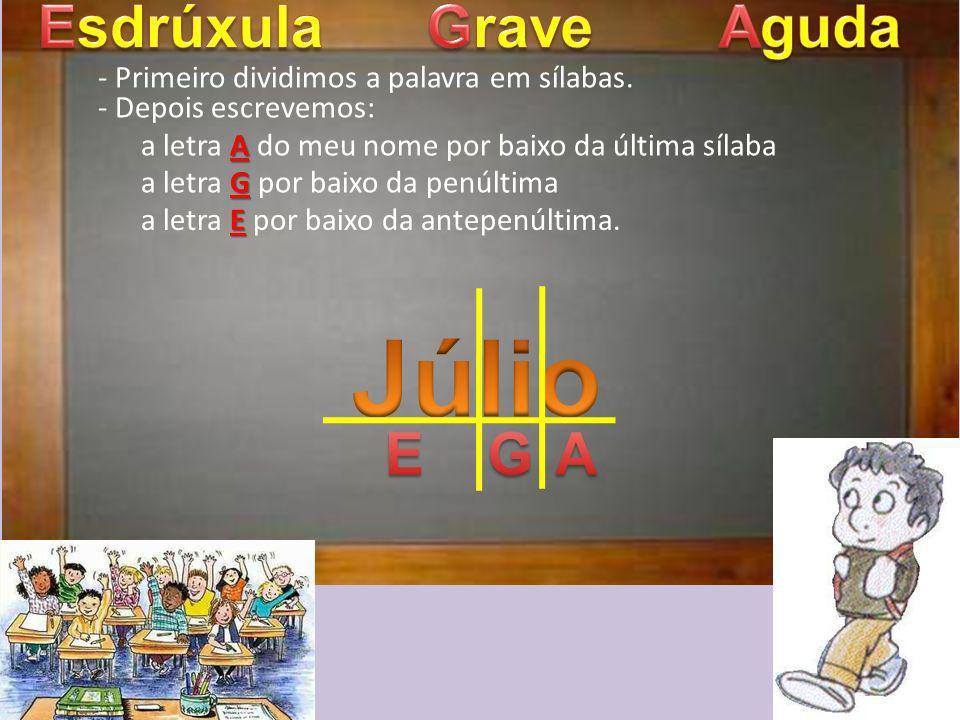 Júlio Esdrúxula Grave Aguda E G A
