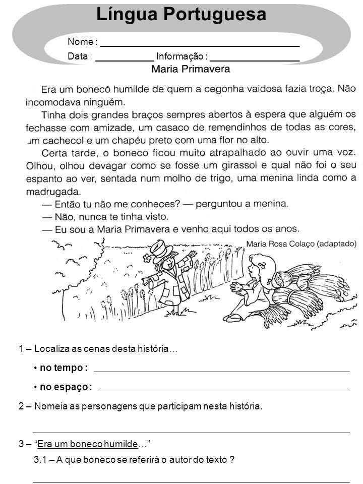 Língua Portuguesa Nome : ______________________________________