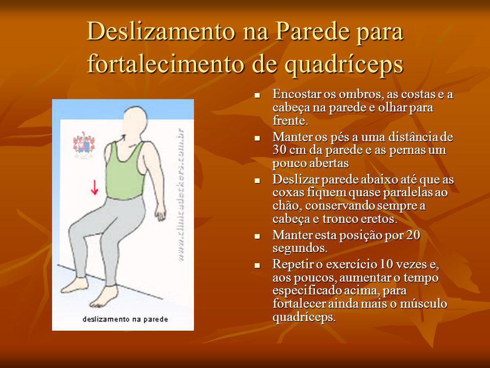 Deslizamento na Parede para fortalecimento de quadríceps