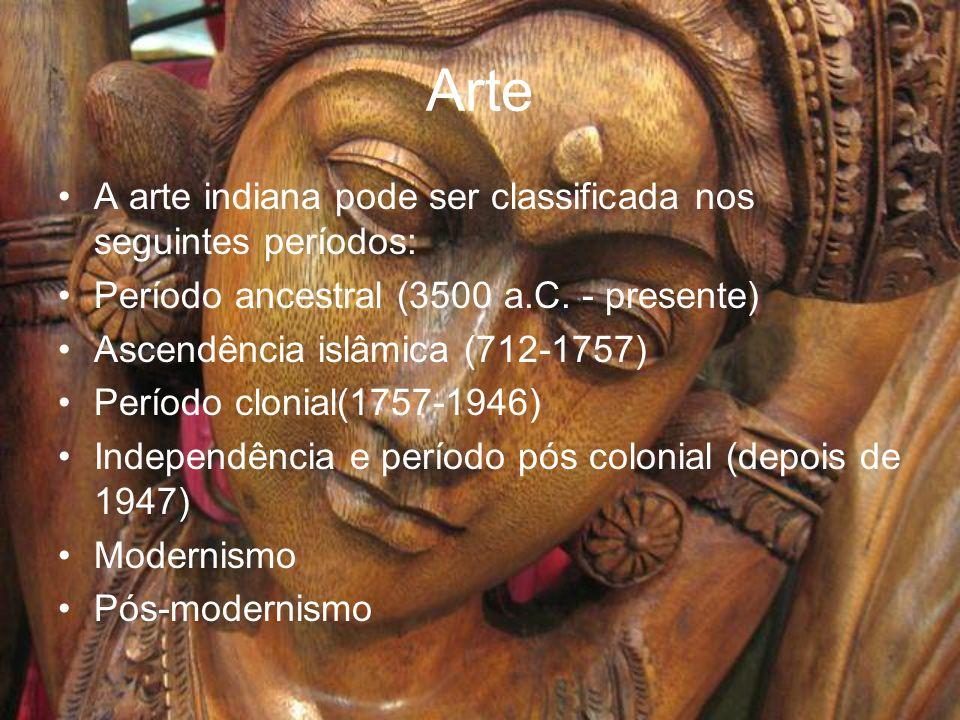 Arte A arte indiana pode ser classificada nos seguintes períodos:
