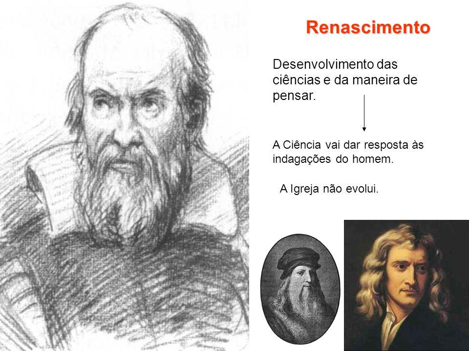 Renascimento Desenvolvimento das ciências e da maneira de pensar.