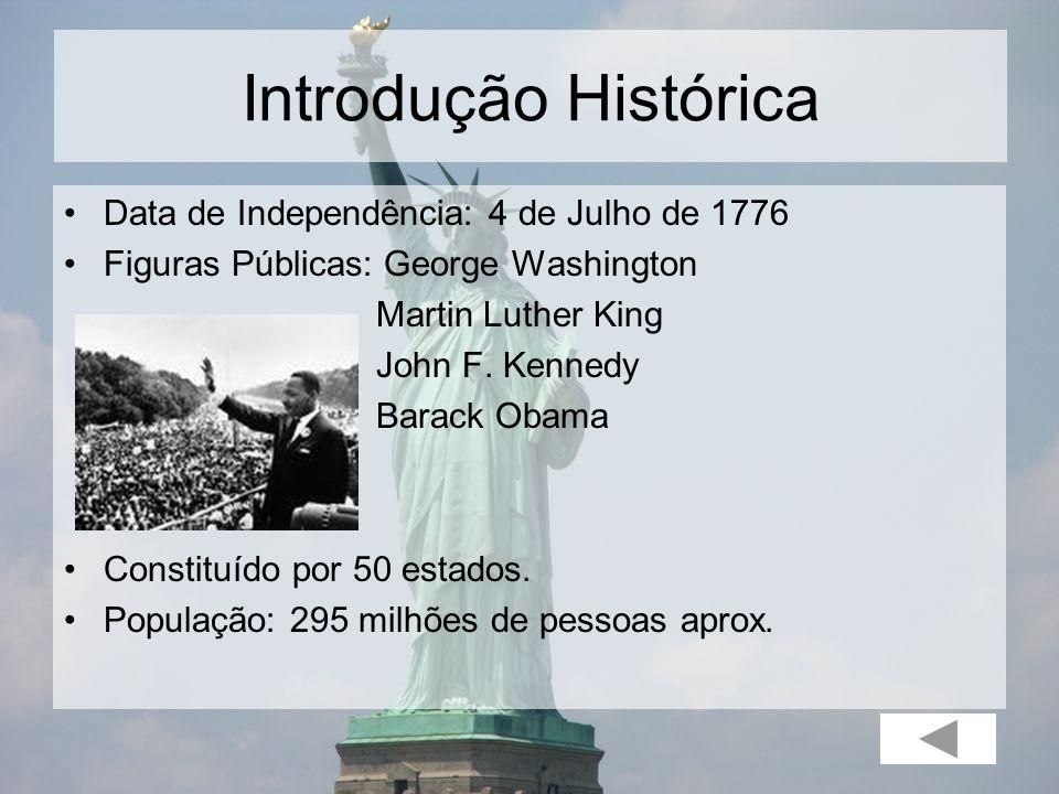 Introdução Histórica Data de Independência: 4 de Julho de 1776