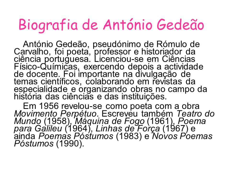 Biografia de António Gedeão