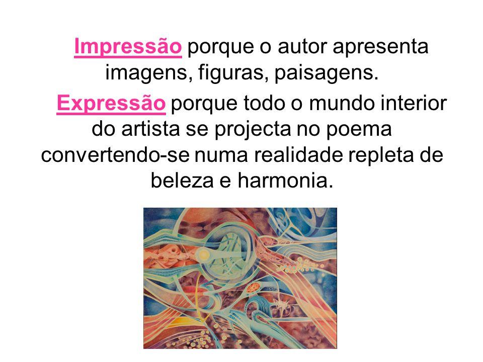 Impressão porque o autor apresenta imagens, figuras, paisagens.
