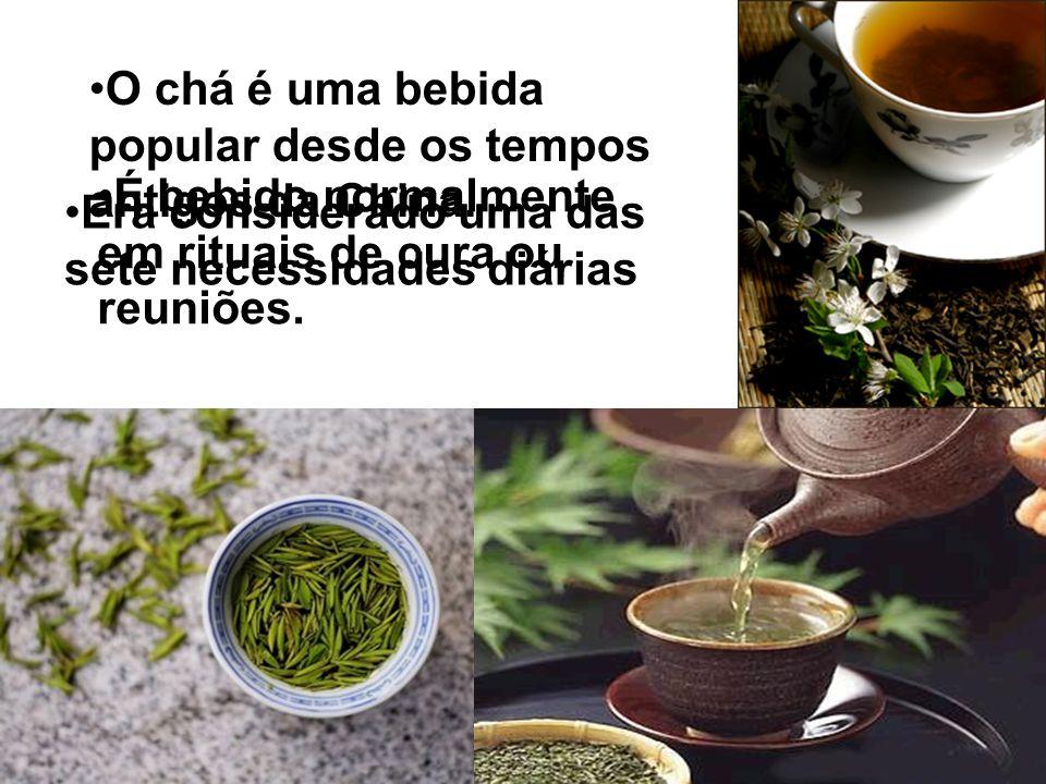 O chá é uma bebida popular desde os tempos antigos da China.