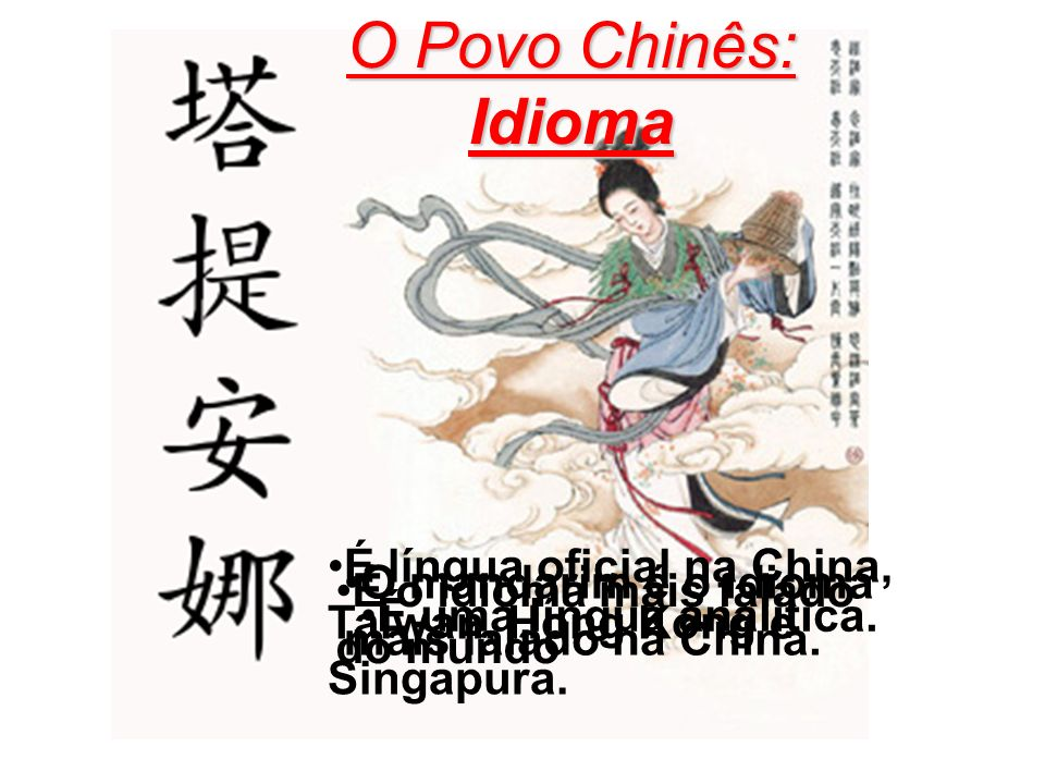 O Povo Chinês: Idioma Idioma Chinês