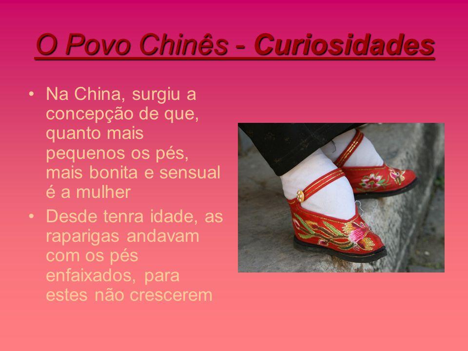 O Povo Chinês - Curiosidades