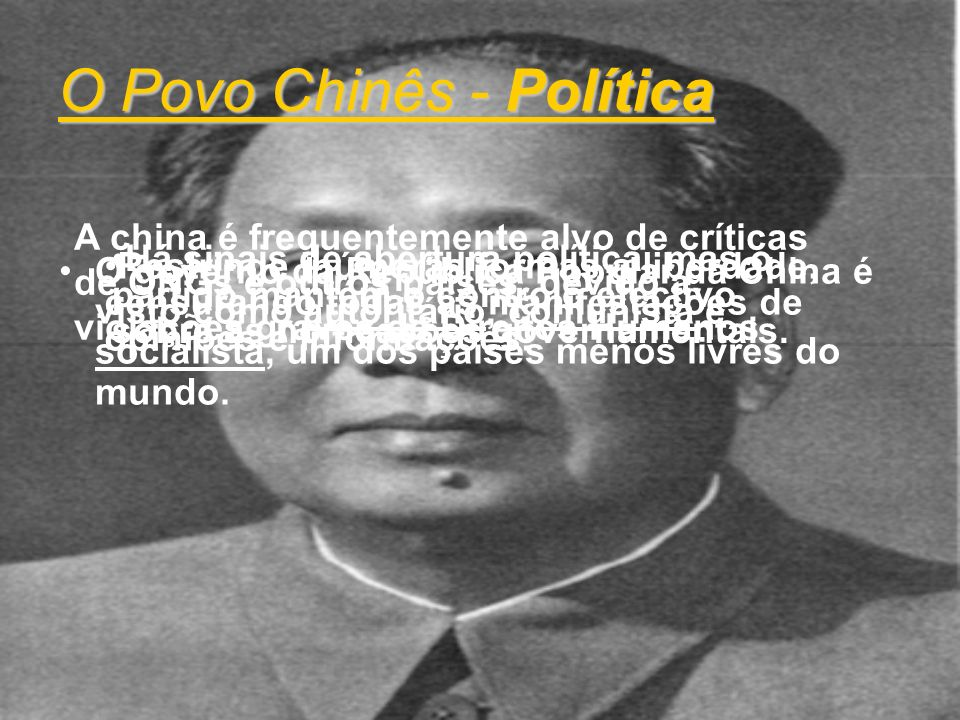 O Povo Chinês - Política