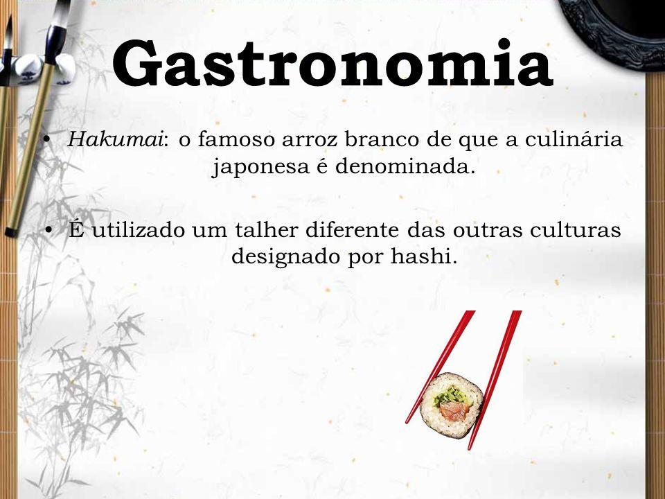 GastronomiaHakumai: o famoso arroz branco de que a culinária japonesa é denominada.