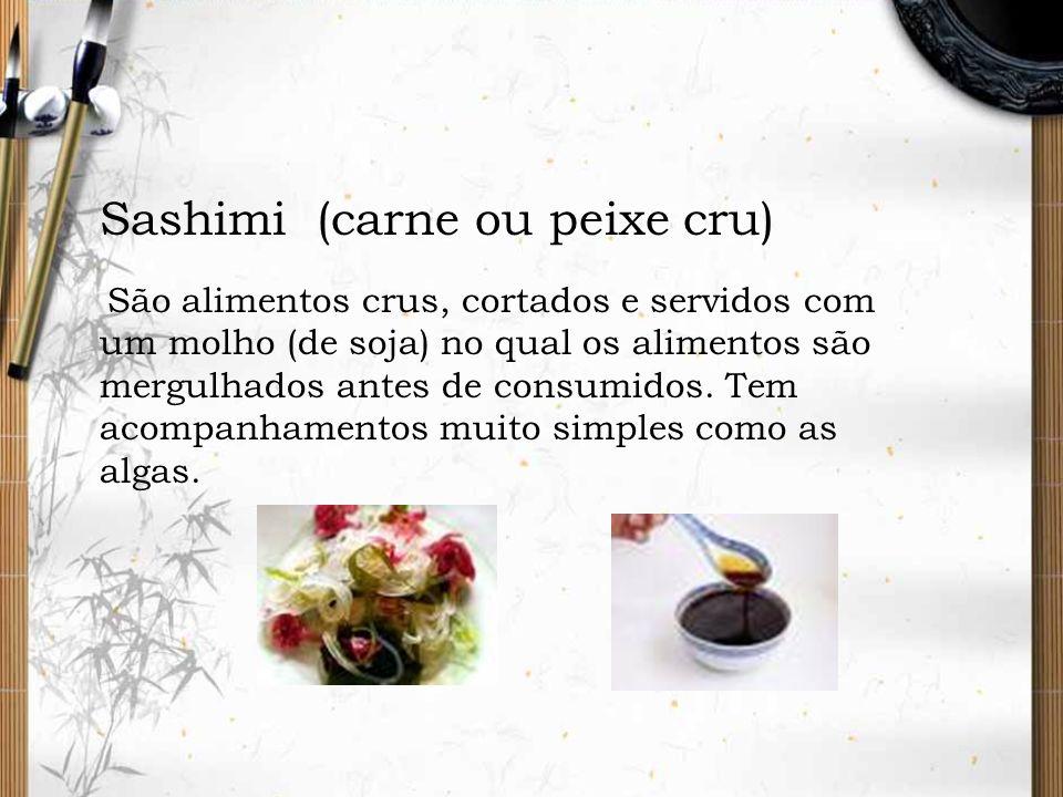 Sashimi (carne ou peixe cru)