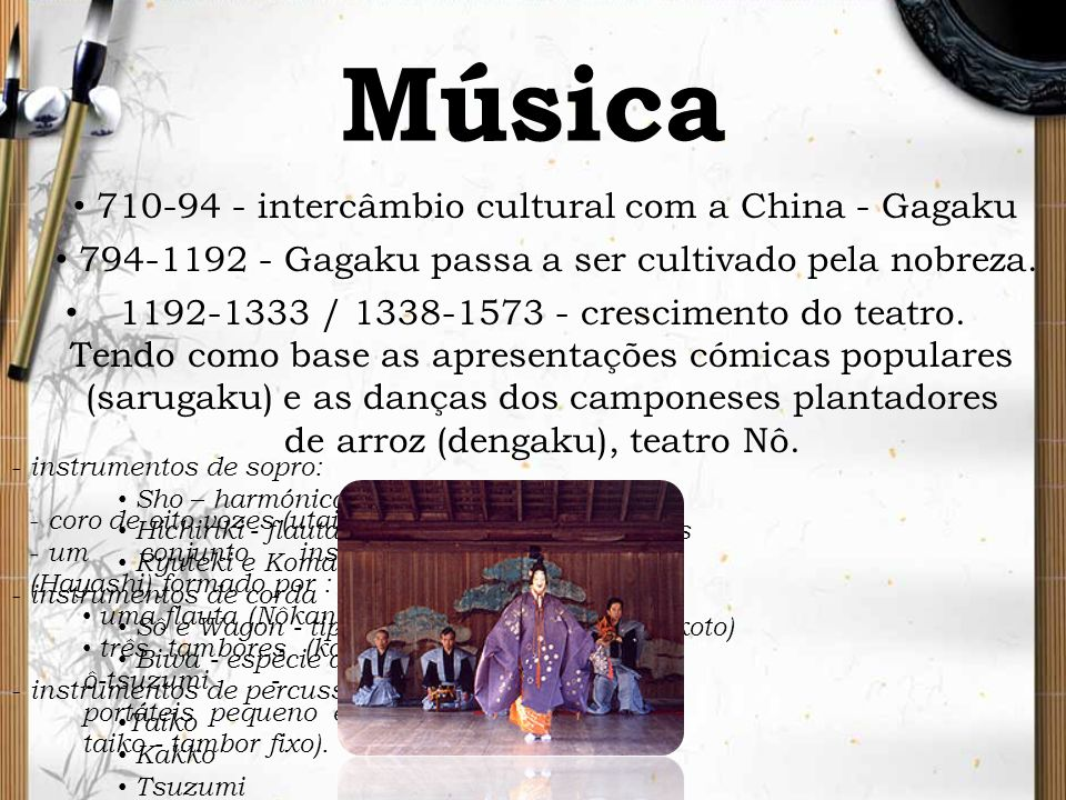 Música 710-94 - intercâmbio cultural com a China - Gagaku