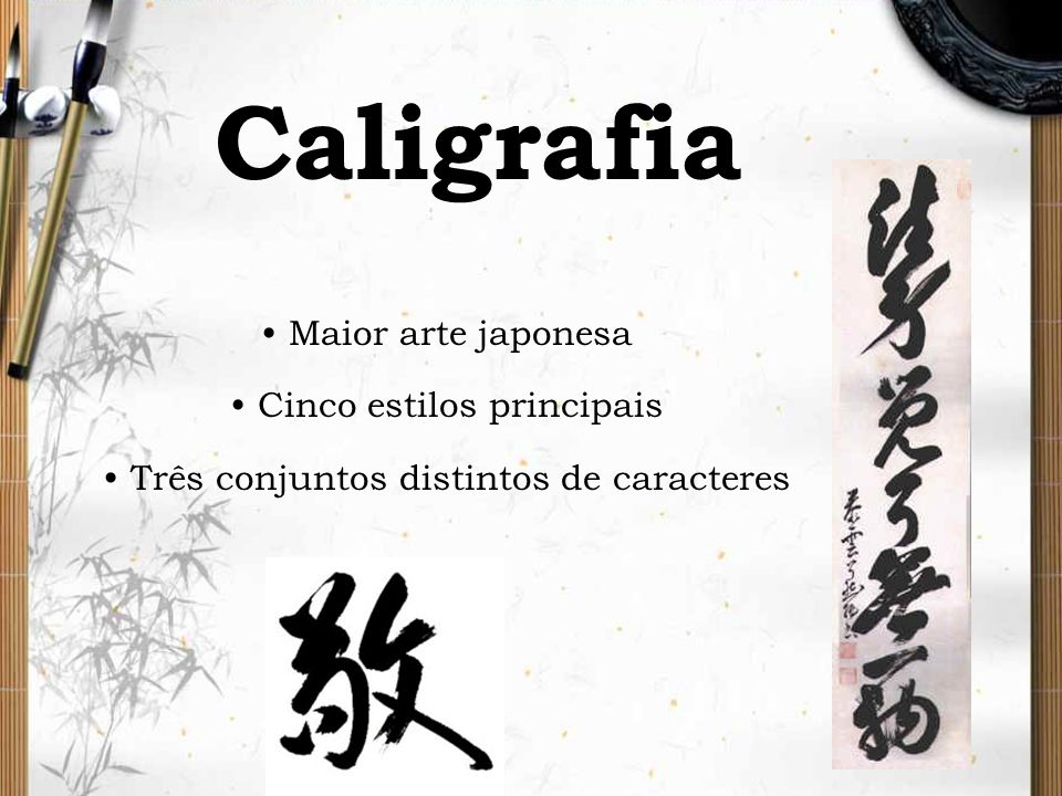 Caligrafia Maior arte japonesa Cinco estilos principais