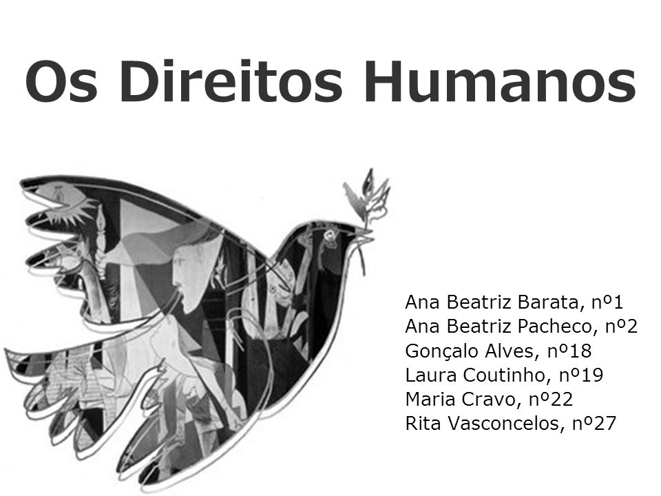 Os Direitos Humanos Ana Beatriz Barata, nº1 Ana Beatriz Pacheco, nº2