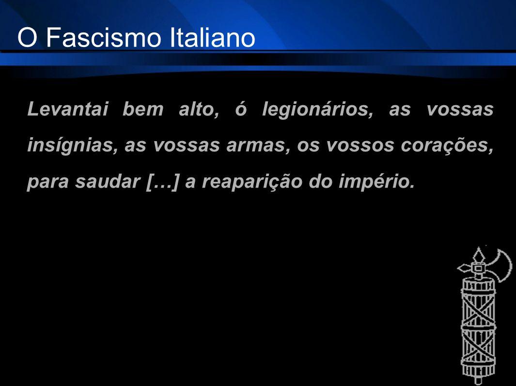 O Fascismo Italiano