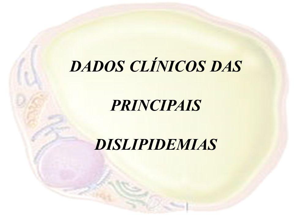 DADOS CLÍNICOS DAS PRINCIPAIS DISLIPIDEMIAS