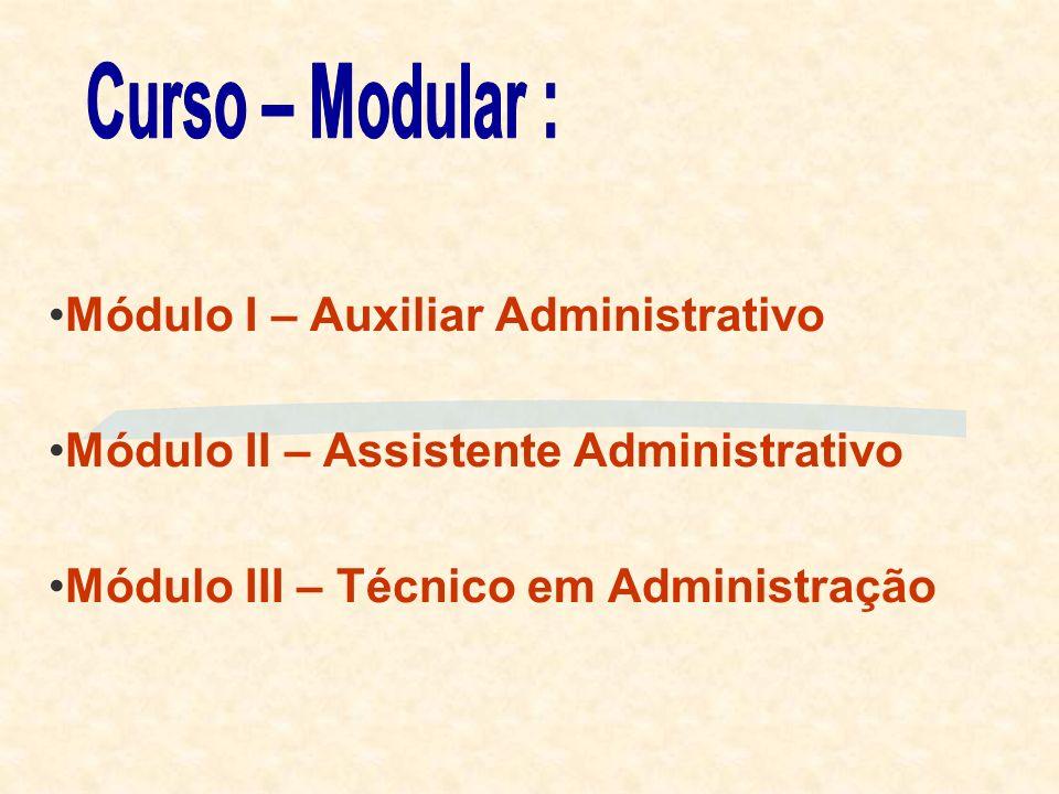 Curso – Modular : Módulo I – Auxiliar Administrativo