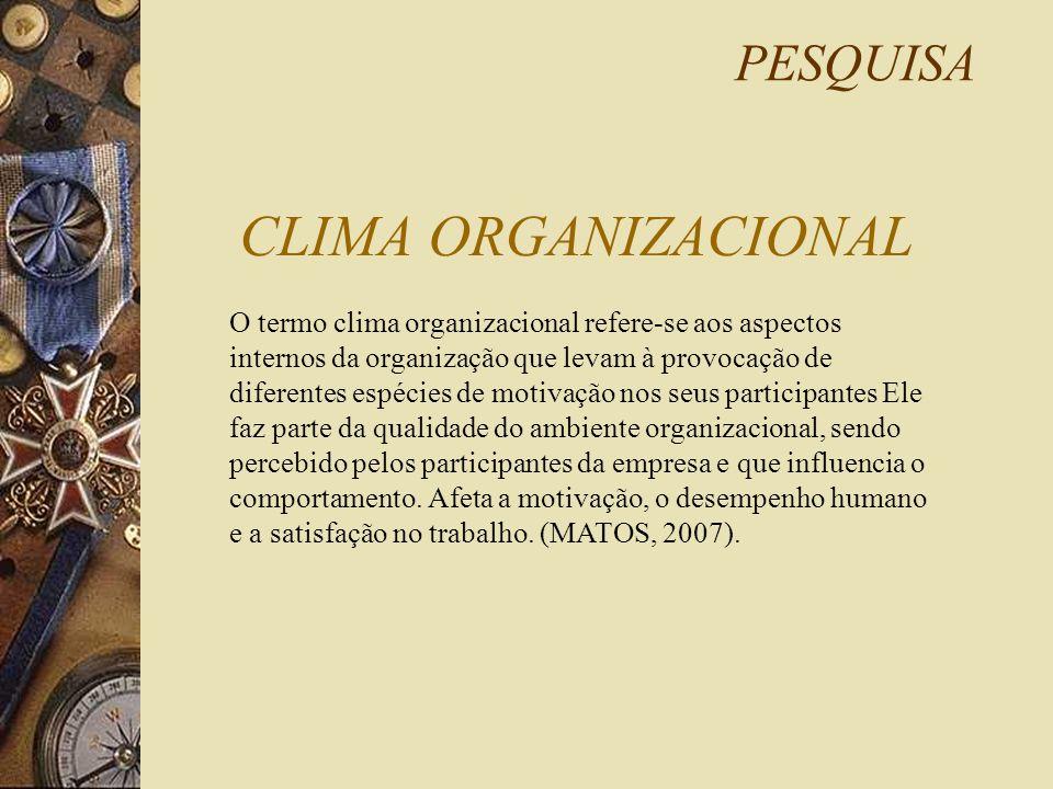 CLIMA ORGANIZACIONAL PESQUISA