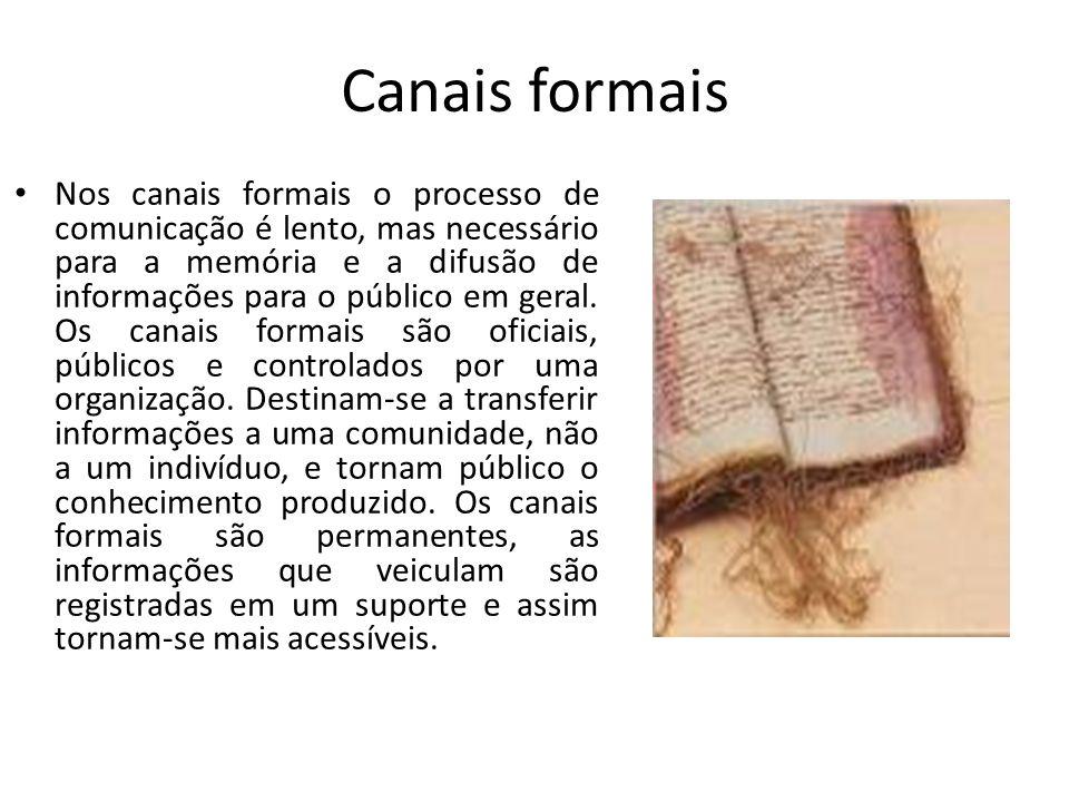 Canais formais