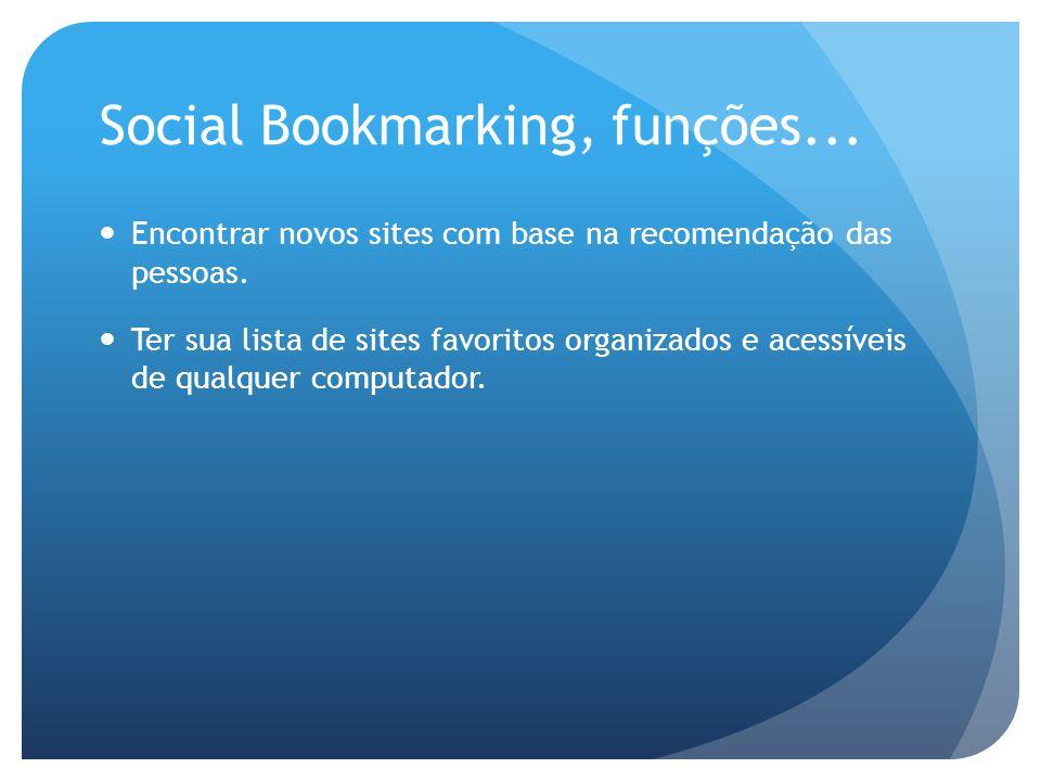 Social Bookmarking, funções...