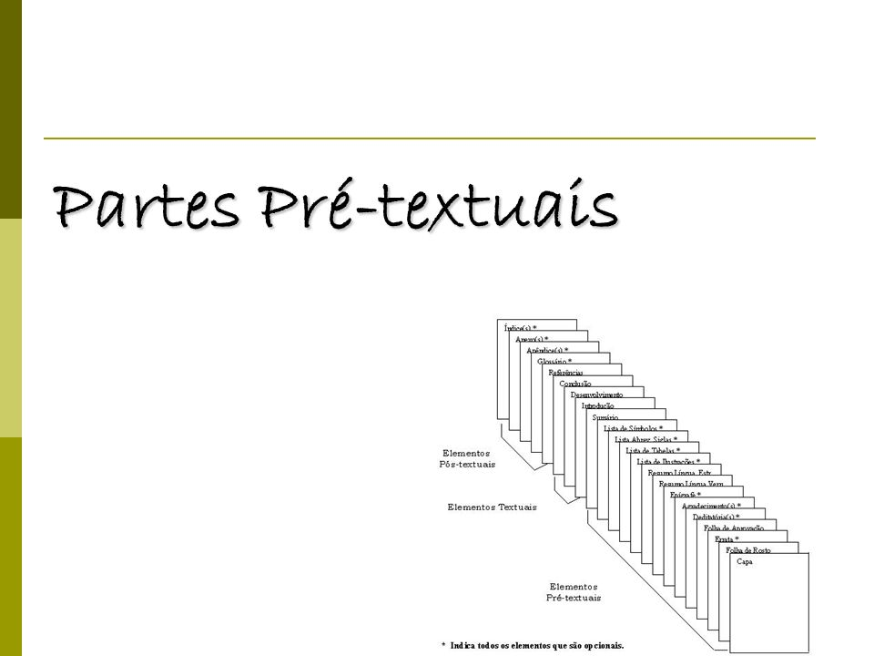 Partes Pré-textuais