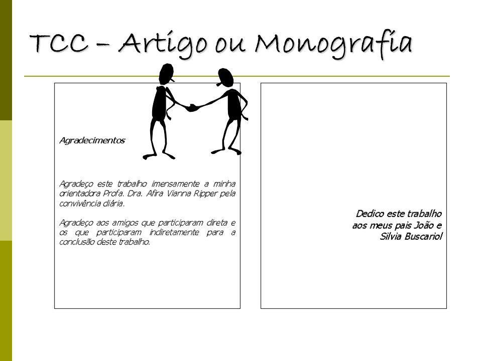 TCC – Artigo ou Monografia