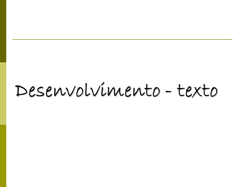 Desenvolvimento - texto